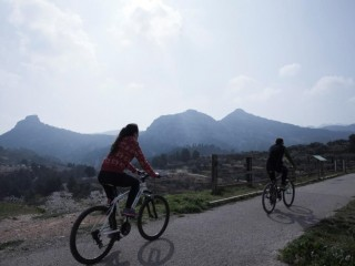 Discover the Green Ways in Terra Alta riding a bike!